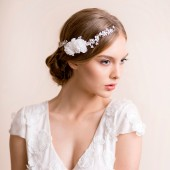 bridal, headpiece, hairpiece, accessory, hair accessory, flower, florentes, clip