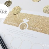 Gold Glitter Bridal Shower Bingo