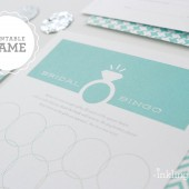 Jeweler Blue Bridal Bingo Cards