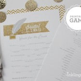 Printable Bridal Libs AdLibs Shower Game in Gold Glitter
