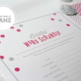 Printable Bridal Word Scramble in Fuchsia Pink Game