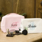 Cosmetic Bag Personalized Bride Gift or Bridesmaids Gift