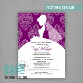 Elegant Purple Bridal Shower Invitation