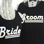 Bride and Groom Matching Tanks