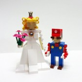 Mario and Princess Peach Wedding Cake Topper