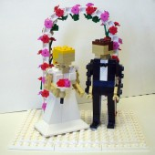https://www.etsy.com/listing/124694358/custom-bride-and-groom-with-flower-arch