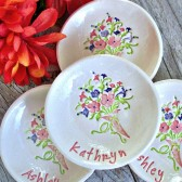 Floral Bouquet Ring & Trinket Dish