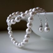 Pearl and Rhinestone Bridesmaid Jewelry Set