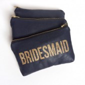 Bridesmaids Leather Clutches