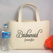 Personalized Bridesmaid Beach Tote Bag with Name