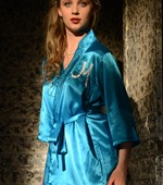 Luxurious Personalized Satin Lingerie Robe