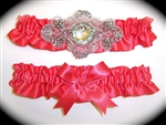 Bright Coral Regal Garter