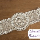 Brooke Bridal Sash - SparkleSM Bridal Sashes