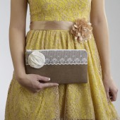 Rustic Wedding Clutch Envelope