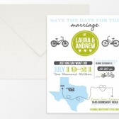 Brynn – State Silhouette Map Whimsical Wedding Save the Date