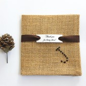 Personalized Groomsmen Gift Burlap Pocket Square, Burlap Wedding, Rustic Wedding, Monogrammed Groomsmen Gift, Groom Gift, Winter Wedding
