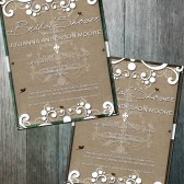Rustic Bridal Shower Shabby Chic Bridal or Baby shower Invitation
