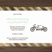 Pulp Sisters Paperie Bicycle Save the Date