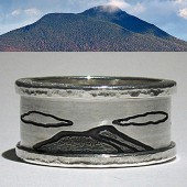 Rustic mountain ring for men and women