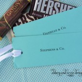 Tiffany Blue Candy Bar Wrappers