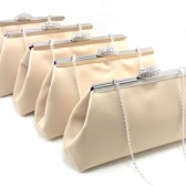 Champagne and Blackberry Purple Bridesmaid Gift Clutches