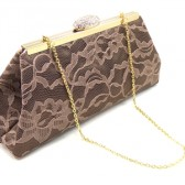 Chocolate and Latte Bridal Clutch