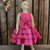 fuchsia flower girl dress,taffeta dress,colorful wedding,summer wedding,ruffle flower girl,modern flower girl,pink flower girl