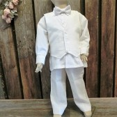 Ring bearer,linen suit,white suit,wedding outfit