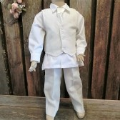 Boys wedding attire,linen suit ivory suit,ring bearer,