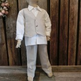 Boys wedding outfit,natural linen,ring bearer,