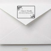 Flourish Wedding Custom Address Stamp – CL002