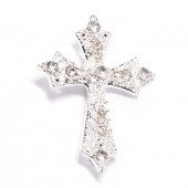 CROSS RHINESTONE SLIDE BUCKLE 327