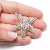 CRYSTAL STARFISH BROOCH 415