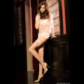 Katerina Crystal Accented Silk Wedding Stockings