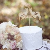 Deer with Banner Cake Topper