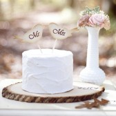 Love Bird Mr and Mrs Cake Topper