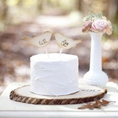 Love Birds We Do Cake Topper