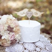 Love Birds with Heart Cake Topper
