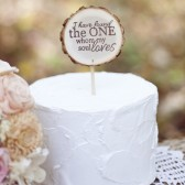 Song of Solomon Wood Slice Cake Topper