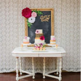 Paper Flower cake table