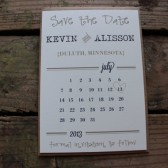 Rustic Save the Date Wedding Invitation