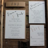 Rustic Calligraphy Wedding Invitation