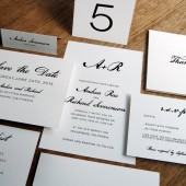 Complete Wedding Template Kit - Calligraphy Monogram
