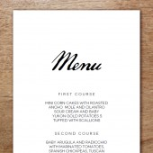 Printable Menu Template - Calligraphy Monogram