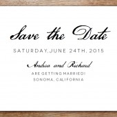 Save the Date Template - Calligraphy Monogram