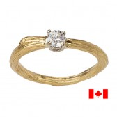 canadian diamond ring with twig band