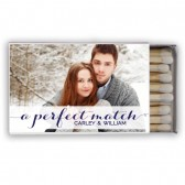 Carley – Personalized Photo Wedding Favor Matchboxes
