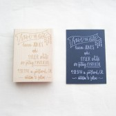 Cascading Hearts Save The Date Stamp
