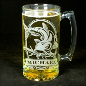 Personalized Catfish Gift for Groomsmen Beer Stein