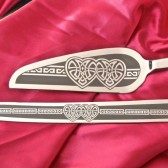 Celtic Knot cake server and knife set